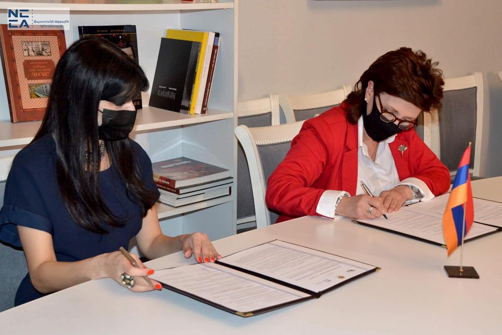 Հայկական կինոարվեստի և կերպարվեստի համագործակցության հուշագրի ստորագրում